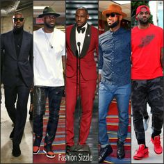 NBA superstar Lebron James has a very diverse fashion style whether he is rocking a Tom Ford suit or a more laid back look with denims styled with a fedora Nba Fashion, Big Men Fashion, Denim Fashion, Male Fashion, Fashion Ideas, Fashion Shoes, Lebron James Family, King Lebron James, Sharp Dressed Man