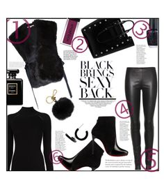 """""""BLACK on BLACK"""" by jckallan ❤ liked on Polyvore featuring The Row, Misha Nonoo, Helmut Lang, Christian Louboutin, Mulberry, L. Erickson, OPI, Smashbox, MICHAEL Michael Kors and contestentry"""