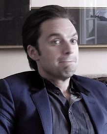 Sebastian Stan,  always smiling and laughing so genuinely, never seems to be faking or forcing it. I would think that would be hard.