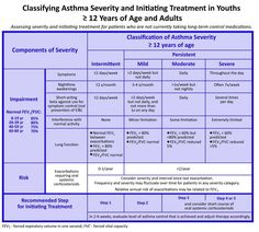 Asthma Classification Chart * Details can be found by clicking on the image.