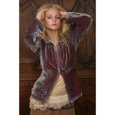 Rock and Roll Gypsies: Tallulah Velvet Jacket - Silk Velvet - Gypsy Moon found on Polyvore