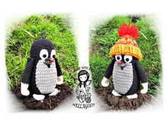 This is PATTERN in pdf. No final product ! Mole size: Height without hat, with hat. Diy Crochet Patterns, Easy Crochet, Crochet Toys, Crochet Penguin, Crochet Animals, Diy Toys, Toy Diy, Animal Decor, Mole