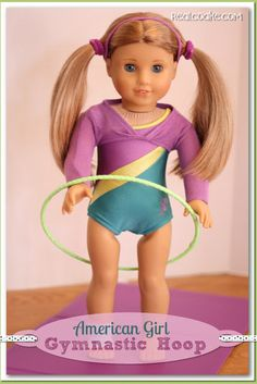 American Girl Crafts ~ How to make a gymnastic hoop for your 18 Doll from realcoake.com