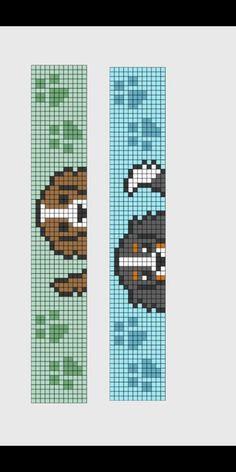 Diy Bracelets Patterns, Hama Beads Patterns, Beading Patterns, Cross Stitch Bookmarks, Beaded Cross Stitch, Cross Stitch Patterns, Diy Perler Beads, Perler Bead Art, Perler Bead Disney