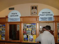Vatican Post Office: An Unlikely Tourist Attraction  I mailed home postcards from there so they would have the Vatican postmark.