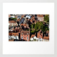 Red Rooftops Art Print by barbarasoftley Wall Decor, Wall Art, Rooftop, Photo Wall, Walls, Posters, Urban, Salisbury, England Uk