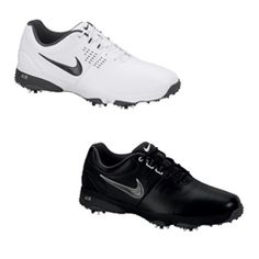 Nike Golf Mens Air Rival III Golf Shoes Walk to your next shot with comfort and style in the Air Rival 3 Golf Shoe. Synthetic leather uppers provide water resistance and keep feet comfortable in any conditions. Full-length comfort sockliners and encapsulated Nike