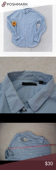 Theory Men's Blue Plaid Button Down Shirt xxl Theory men's Button Down shirt In excellent condition Size XXL Theory Shirts Casual Button Down Shirts