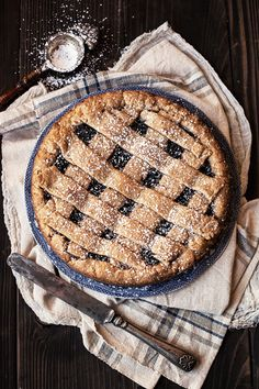 vegan jam tart. dessert recipe inspiration.