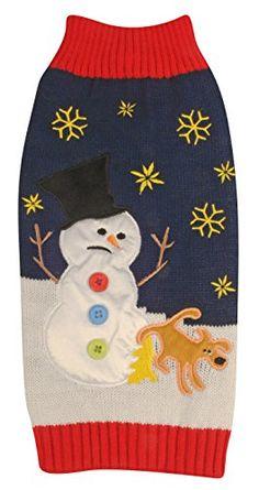 New York Dog Ugly Holiday Sweater for Pets, Medium, Navy Snowman and Dog New York Dog http://www.amazon.com/dp/B00MEKDL8M/ref=cm_sw_r_pi_dp_PUkuub1XYZH4Y
