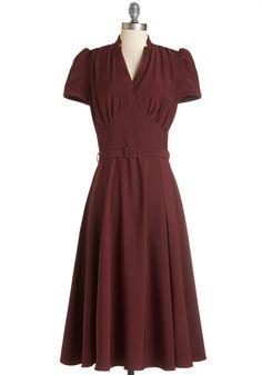 Radio Hour Dress in Wine, #ModCloth Simplicity/New Look 6183