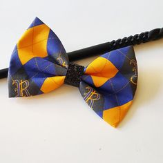 Argyle Ravenclaw House Harry Potter Fabric Hair Bow for Adults, Kids, Cats, and Dogs.