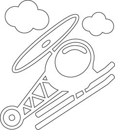 Cartoon helicopter coloring page | Download Free Cartoon helicopter coloring page for kids | Best Coloring Pages