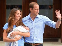 Prince William and Kate Middleton with their new baby Prince, George Alexander Louis!