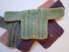 Hand knitted baby cardigan Free Shipping by KnitDjin on Etsy