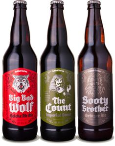 Grimm Brothers Brewhouse Fabled Series Beers - designed by Emrich Office