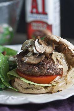 juicy pub style bison burger