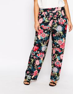Image 4 ofPink Clove Printed Palazzo Trouser