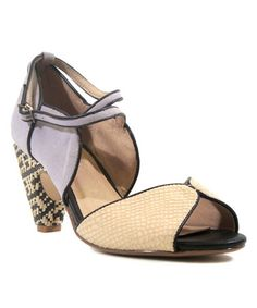 Another great find on #zulily! Beige & Purple Nelly Sandal #zulilyfinds