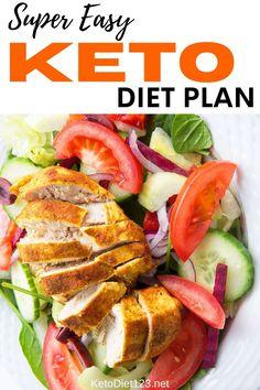 Clean Eating Diet, Clean Eating Recipes, Kito Diet, Keto Diet For Beginners, Keto Meal Plan, Healthy Fats, Keto Recipes, Meal Planning, Easy Meals