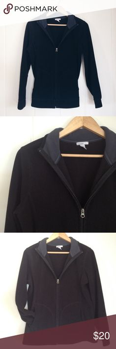 Old Navy Black Zip-Up Fleece Sweater Jacket Super warm and soft. Front pockets. A few loose threads, gently worn, but lots of life left. Old Navy Tops Sweatshirts & Hoodies