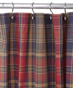 plaid shower curtain birmingham navy plaid shower curtain overstock
