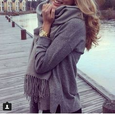 Cozy grey outfit for some real cold days