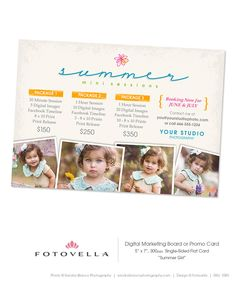 Photography Marketing Board Summer Mini Session by FOTOVELLA