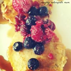 Sunday Morning Pancakes (Grain free!) - great info about using coconut flour too!