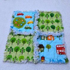 Cars Small Rag Quilt