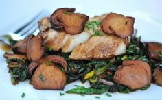... mushrooms or portobello, and the chard is easily interchangeable with