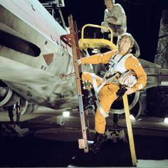 "Luke Skywalker ""Mark Hamill"" on the set of Star Wars 1977 Lando Calrissian, Jabba The Hutt, Star Wars Models, Galactic Republic, Star Wars Luke Skywalker, Episode Iv, Original Trilogy, Mark Hamill, The Empire Strikes Back"