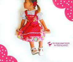 Mitwachs-DIRNDL  Raspberry von krabbelkee collection by Feenland auf DaWanda.com; fabric Gypsy Girl by lily ashbury