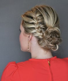 Step 4 | How to Do the Side French-Braid Updo | Real Simple