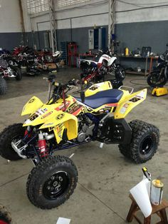 Suzuki LTR 450 rockstar / makita atv graphics kit by Fireblade Graphics.