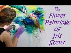 Contemporary Artist: The Finger Paintings Of Iris Scott - YouTube