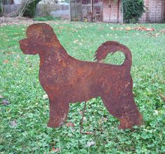 Portuguese Water Dog Garden Stake / Pet by RusticaOrnamentals, $38.99