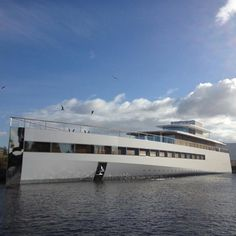 the yacht that Steve Jobs designed for himself before he died this time last year with interiors by French designer Philippe Starck is now complete and has been unveiled at the Dutch shipyard where it was built