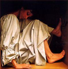 white - woman - figurative painting - James C. Christensen