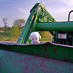 Getting down and dirty on the John Deere.