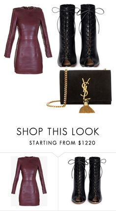 """#todyefor"" by alicebroinea on Polyvore featuring Balmain, Gianvito Rossi and Yves Saint Laurent"