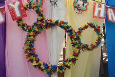Mickey Wreathe. Disney Birthday. First birthday
