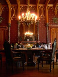 Victorian neo-Gothic dining room (reconstruction)