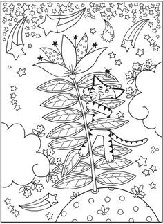 Welcome to Dover Publications Cat Coloring Page, Colouring Pages, Adult Coloring Pages, Coloring Books, Owl Cat, Mandala Artwork, Curious Cat, Dover Publications, 4 Kids