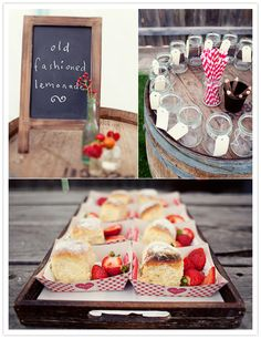 """They wanted their picnic-themed wedding to be simple, rustic, understated and relaxed, using rustic woods, vintage crates and wine barrels."""