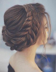 Indian bridal hairstyles, Bridal hairstyles, indian wedding hairstyles, bridal ghoonghat , beuatiful bun, delicate, brown hair