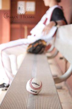 Facebook: Ginger Wesson Photography #baseball #photography #seniorportraits