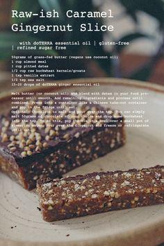 Raw-ish Caramel Ginger-nut Slice - The Whole Daily