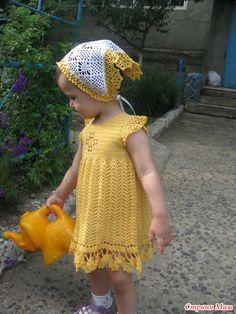 Sunny Bunny Dress free crochet graph pattern