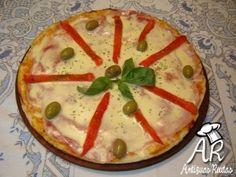 Pizza – Mozzarella, Jamón y Morrones